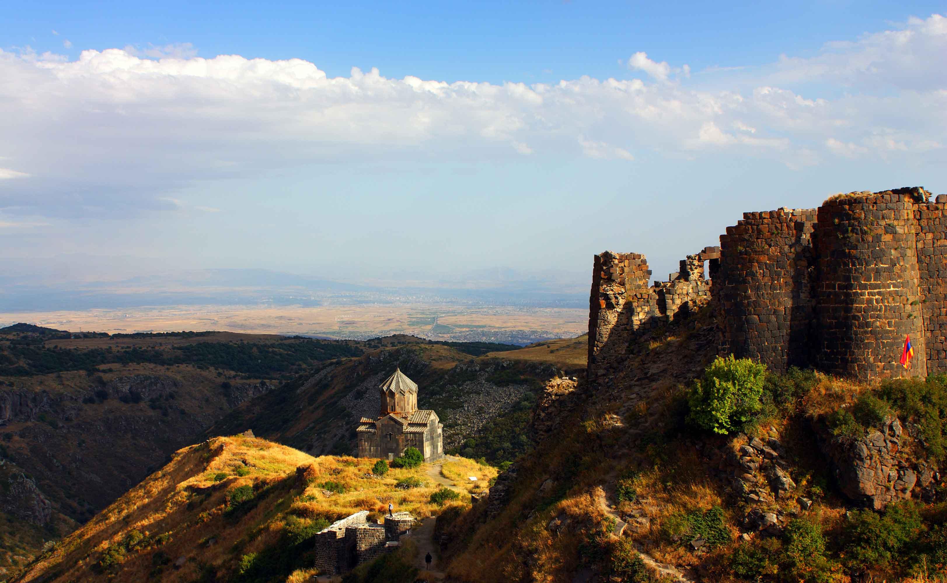 Армения, Амбер, склон горы Арагац