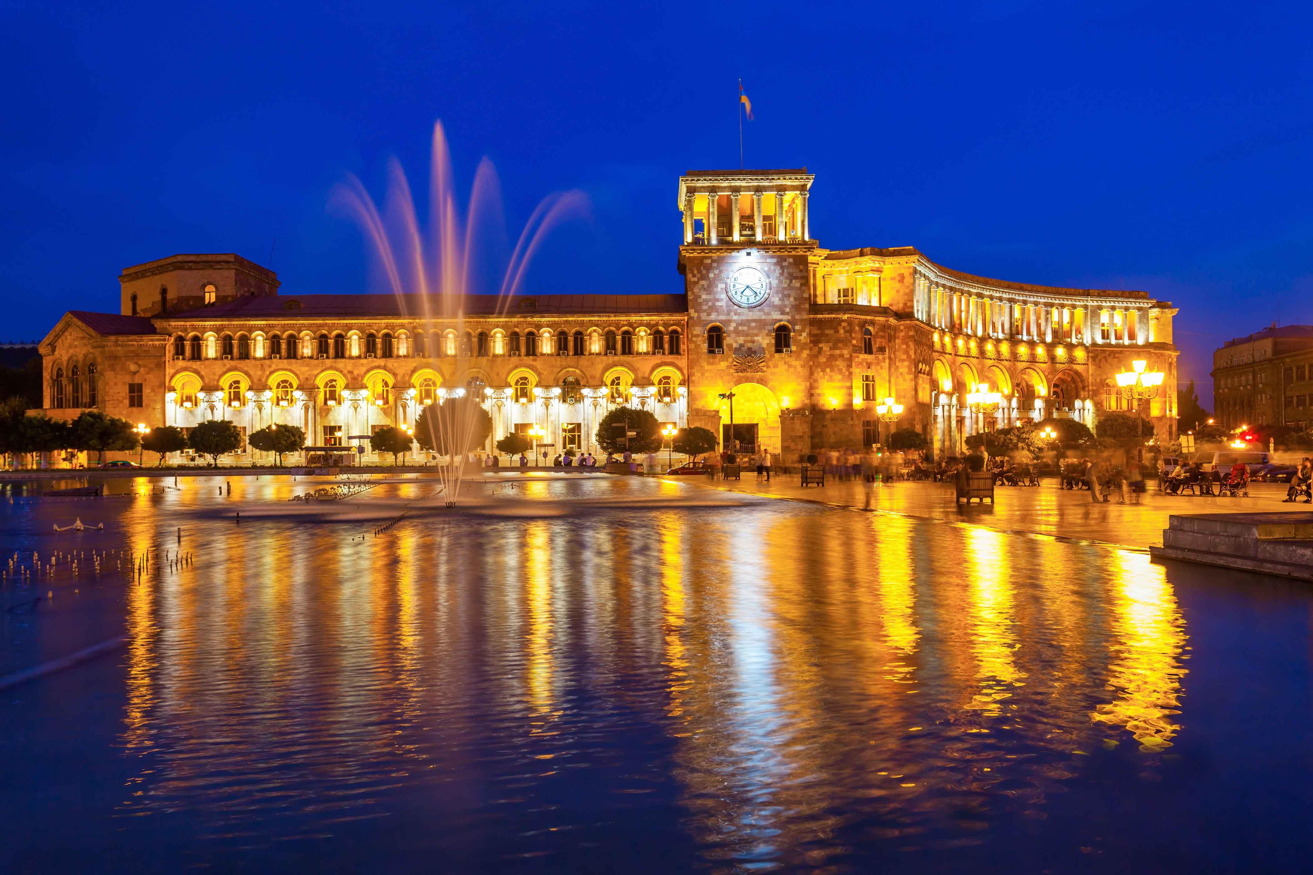 площадь республики Еревана