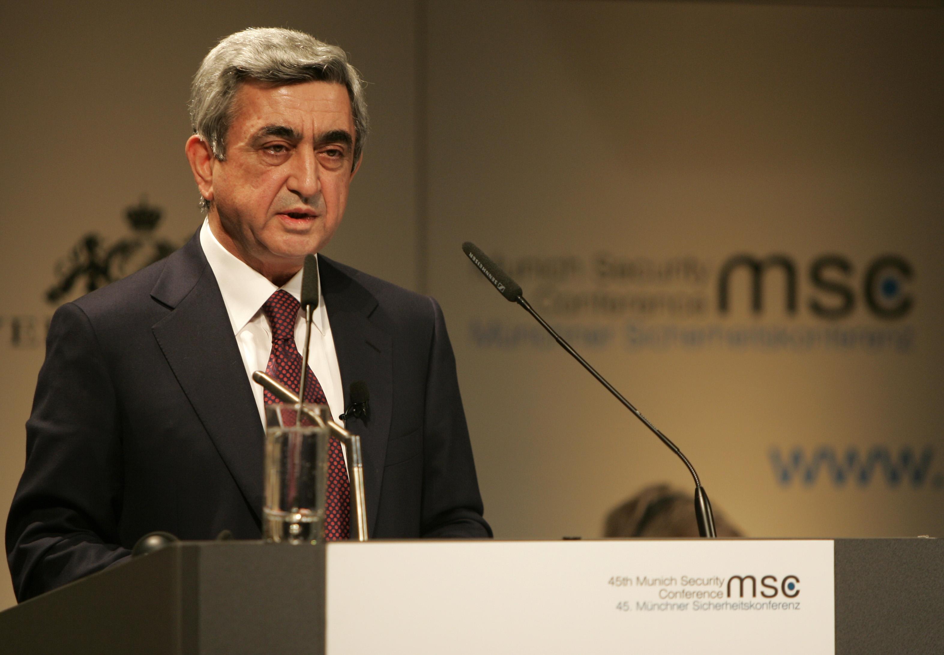 Президент Республики Армения – Серж Азатович Саргсян