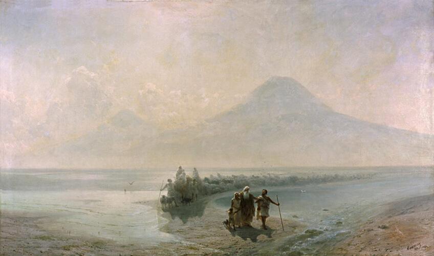 Малый Арарат - И. Айвазовский, Сошествие Ноя с горы Арарат, 1889 г.