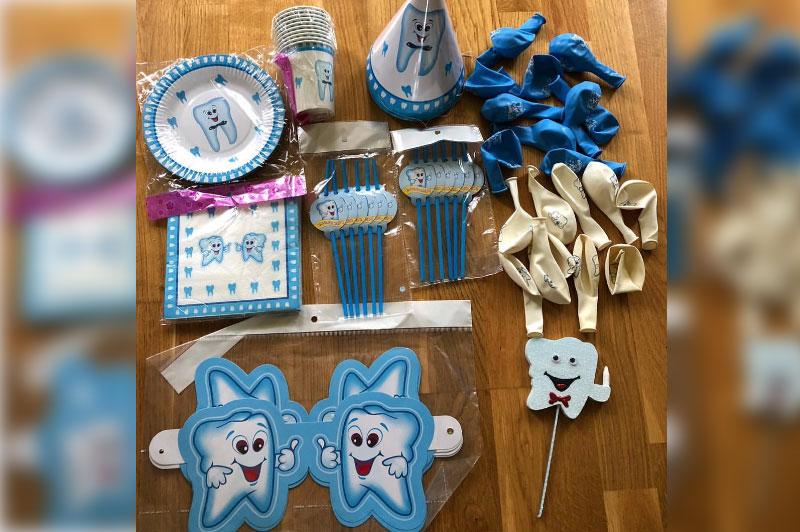 идеи для праздника первого зубика или атаматик: наборы для детей