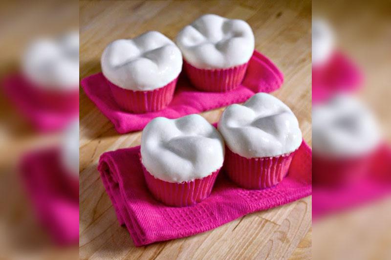 идеи для праздника первого зубика или атаматик: маффин в виде зубика